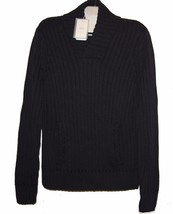 Armani Collezioni Black Knitted Men's V-Neck Sweater Italy Size US 46 EU... - $237.59