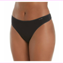 Calvin Klein Womens Plus Size Form Stretch Thong Panties Black NWT