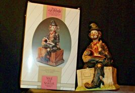 Porcelain Clown with Bisque finish resting on a Bench AA-191925 Collectible image 7