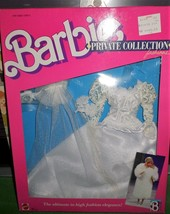 Barbie Fashions PRIVATE COLLECTION 1988 NEW Wedding Gown OOPS Box - $17.50