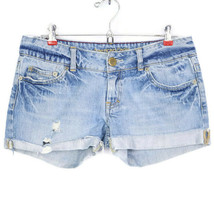 American Eagle Womens Jean Shorts Cut Off Size 6 Distressed - $26.68