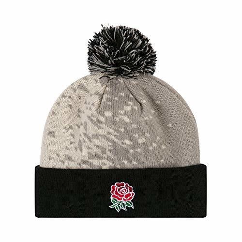 CCC England Rugby Acrylic Bobble Hat [oyster grey]