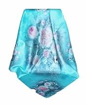 PANDA SUPERSTORE Silk Scarf Shawl Blue Beauty Scarves Elegant Scarves for Women