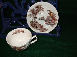 """Vintage Johnson Brothers """"The Old Mill"""" Tea Cups and Saucers - $100.00"""
