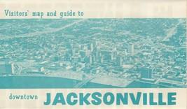 Vintage Travel Brochure Downtown Jacksonville Florida Vistors Map and Guide - $9.89
