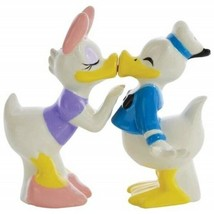 Walt Disney Daisy and Donald Duck Ceramic Salt and Pepper Shakers NEW UN... - $33.85