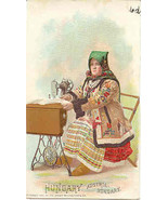 Singer Sewing Hungarian lady 1892 Victorian Trade Card - $7.00