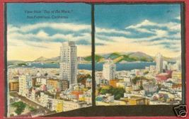 San Francisco CA City fr Top of Mark Linen Postcard BJs - $6.50
