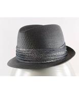 "Dobbs Golden Coach Vintage 23"" Gray Stingy Brim Braided Straw Trilby Hat - $79.19"