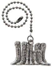 Cowboy Cowgirl Boots Pewter Ceiling Fan Pull - $23.76