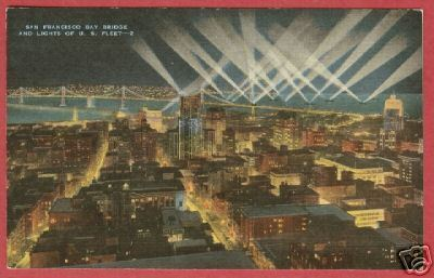 SAN FRANCISCO Bay Bridge US Fleet CA Lights PC BJs