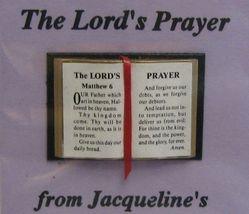 Dollhouse Bible English Lord's Prayer 4916 Jacqueline readable ribbon NR... - $4.70