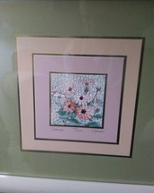 EXTREMLY RARE Vintage Carolyn Kinder 3D Serigraph watercolor print.  Sig... - $158.40
