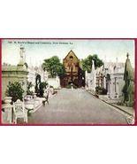 NEW ORLEANS LA St Roch's Chapel Cemetery 1914 Postcard - $8.00