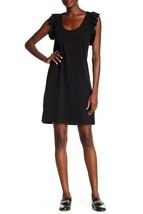 NEW Current Elliott T Shirt Dress Ruffles Sleeves 100% Cotton The Cadenc... - $29.99