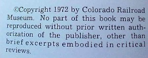Hard back Railroad book entitled Narrow Gauge to Central & Silver Plume: Colorad image 3