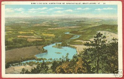 BRATTLEBORO VERMONT Bird's Eye Mt Wantastiquet VT PC