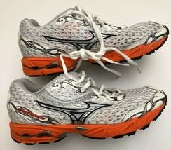Mizuno Women's Wave Precision 11 Running Shoes White / Orange / Silver U... - $51.47