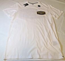 Herren Volcom Kurzärmelig Orgnc Baumwolle T-Shirt Surf Skate S Modern Fit Weiß - $18.70