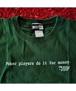 WPT World Poker Tour T-Shirt Golden Nugget Laughlin - Dk Green - Large - $13.70