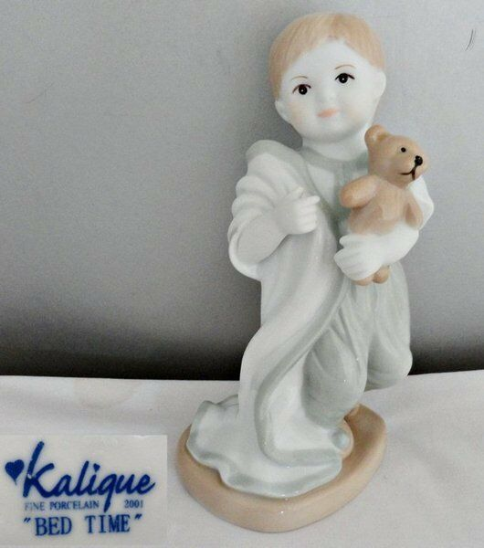 Kalique Bed Time Porcelain Boy Figurine