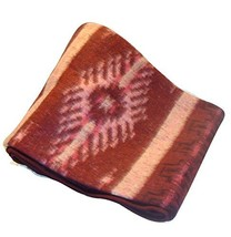 Fair Trade Brushed Alpaca Blend Recycled Wool Blanket Reversible Throw 7... - $59.52 CAD