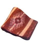 Fair Trade Brushed Alpaca Blend Recycled Wool Blanket Reversible Throw 7... - $44.50