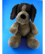 "Build a Bear Plush Dog 2 tone Brown 15"" total 10"" Sitting - $13.85"