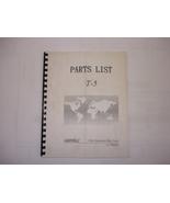 Leadwell T-5 Parts List Manual - $20.00