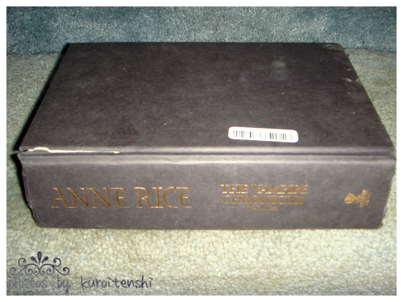 USED Hardbound copy of Anne Rice's Vampire Chronicles 1-3