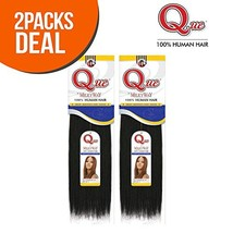 """2-PACK DEALS ! Human Hair Weave Milky Way Que Yaky Que 12"""", 1 image 1"""