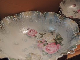 """Antique R.S Prussia Bowls 10.5"""" & 6 small 5"""" Red Mark German Porcelain B... - $224.99"""