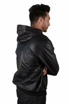 Versace Jeans Hooded Sheep Skin Leather Jacket NWT image 2