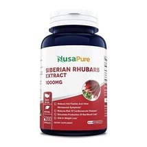 Siberian Rhubarb Extract 1000mg 200 Capsules Non-GMO & Gluten Free Weight Loss A