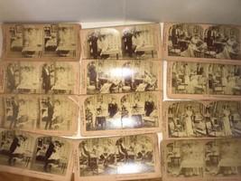B.W. Kilburn Stereoscope Cards Set Mr & Mrs Honeysuckle's New Cook J. Da... - $26.96