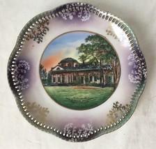 Schumann Bavaria Monticello Place Pierced Reticulated Rim Souvenir - $24.95