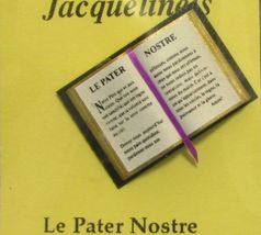 Jacquelines bible lords prayer french gemjanes dollhouse miniatures 2 short thumb200