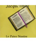 Dollhouse Bible French Lord's Prayer 4916F Jacquelines ribbon bookmark M... - $4.70