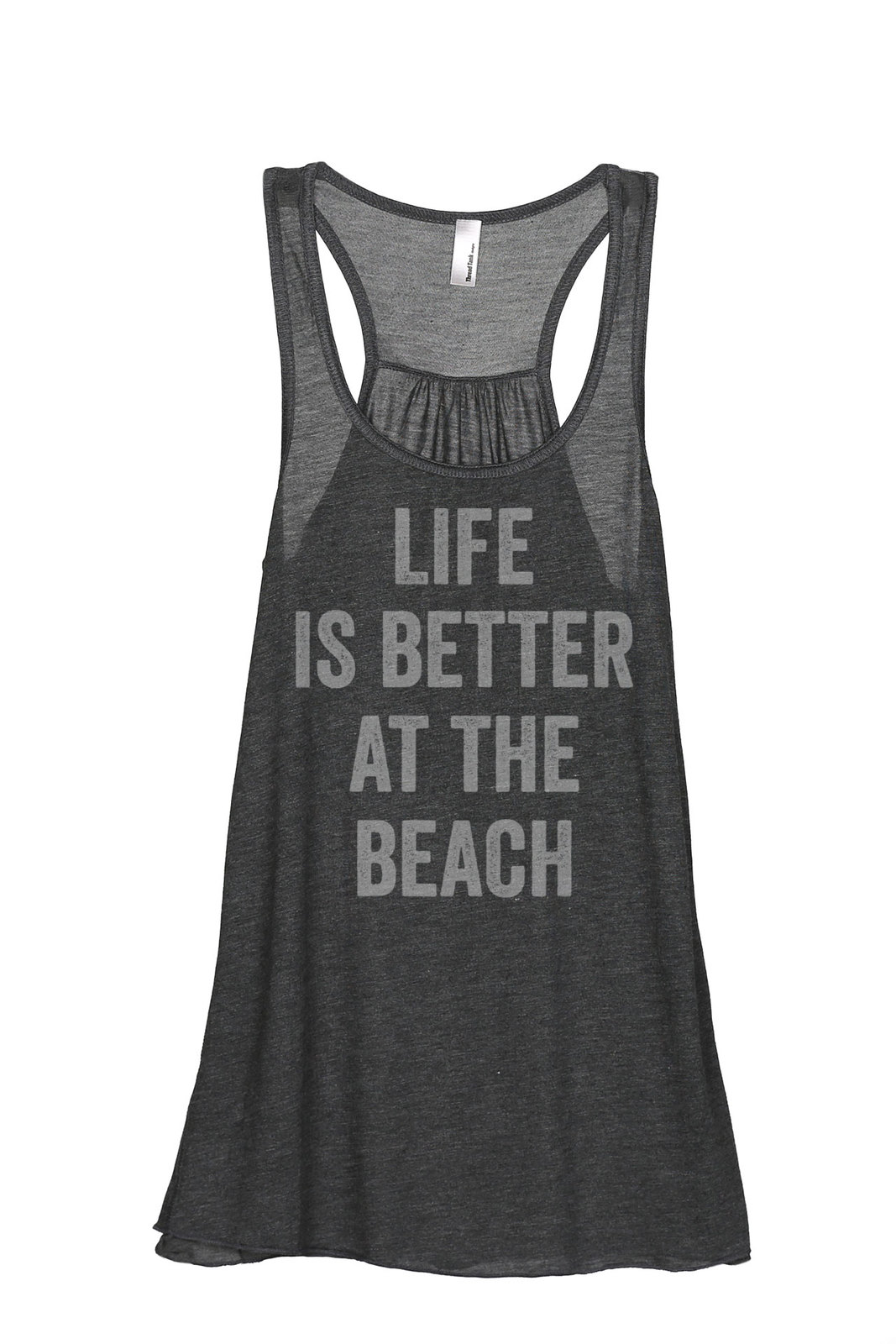 Thread Tank Life Is Better Beach Women's Sleeveless Flowy Racerback Tank Top Cha