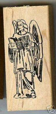 Primary image for ArchAngel Gabriel  rubber stamp large Arch Angel book L