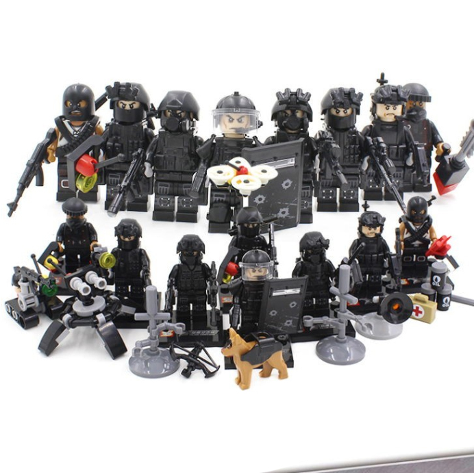 Primary image for Military 8 pcs City Police SWAT Team Army Soldiers With Weapons Fit Lego