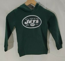 New York Jets Green Hooded Sweatshirt NFL Team Apparel Kids NWT Size Small - $9.89