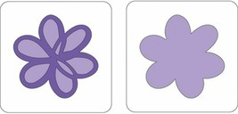 "Provo Craft Cuttlebug 2""X2"" Two-Step Dies 2/Pkg-Scribble Flower"