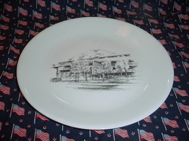Corning Wc Decker Engineering Building Dinner Plate Free Usa Shipping - $23.36
