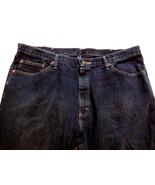 Men's Wranglers Jeans Dark Wash Straight Leg Size 40 x 32 100% Cotton - $13.78