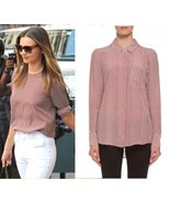 NEW Equipment Quinn silk blouse GRENADINE GEOME... - $100.00