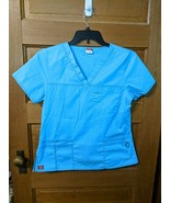 Dickies Youtility Womens Medical Scrub Top 817455 Icy Turquoise Blue - $9.97