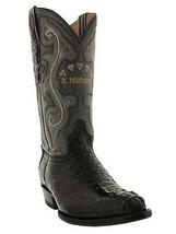 Mens Genuine Black Alligator Hornback Leather Western Cowboy Boots J Toe - €237,07 EUR