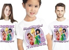 Tinkerbell Birthday Shirt T Shirts Tshirt Custom Tee Personalized Family Name - $16.14