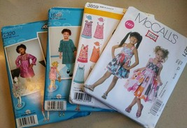Girls dress sewing pattern Lot Simplicity McCalls Uncut W. Instructions - $11.88